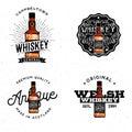 Whiskey themed logotypes