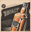 Whiskey vintage poster design Royalty Free Stock Photo