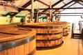 Whiskey distillation plant Royalty Free Stock Photo