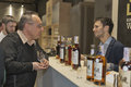 Whisky dram festival in kiev ukraine unrecognized people visit asian distilleries of single malt scotch booth at st ukrainian Royalty Free Stock Photography