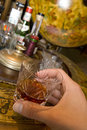 Whisky on drinks globe Royalty Free Stock Images
