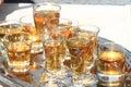 Whisky glasses background Royalty Free Stock Photo