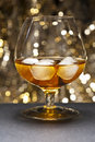 Whisky on the Rocks Royalty Free Stock Photos