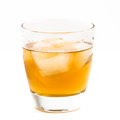 Whisky on the rocks old fashioned glass with served Stock Image