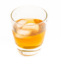 Whisky on the rocks old fashioned glass with served Royalty Free Stock Image