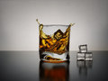 Whisky splash Royalty Free Stock Photo