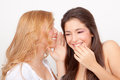 Whisper gossip Royalty Free Stock Photo