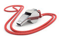 Whistle with red cord d render with dof Stock Photos