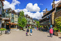 Whistler british columbia canada – june tourists ramble on the street of co host of the olympic games it is a canadian Stock Photography