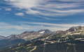 Whistler with Coast Mountains, British Columbia, Canada Royalty Free Stock Photo