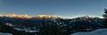 Whistler winter sunset Royalty Free Stock Photo