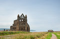 Whitby abbey a photo of the of united kingdom Royalty Free Stock Photography