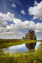 Whitby Abbey on sunny day Royalty Free Stock Photo