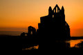 Whitby Abbey Sunset Stock Image