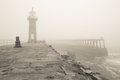Whitby East Pier And Lighthous...