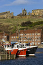 Whitby i norr Yorkshire - United Kingdom Arkivbilder