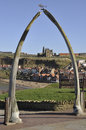 Whitby's whale bone arch Stock Photography