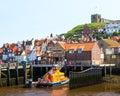 Whitby yorkshire england uk boats moored at europe Royalty Free Stock Image