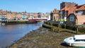 Whitby yorkshire england uk harbour Stock Photo