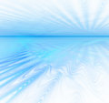 White abstract background with fractal texture. Blue water horiz Royalty Free Stock Photo
