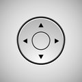 White Abstract Joystick Button Template Royalty Free Stock Photo