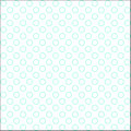White and aero blue colored hollow polka dots patern