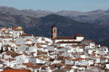 White Andalusian village Algatocin Stock Images