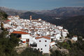 White Andalusian village Algatocin Stock Image