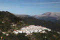 White Andalusian village Algatocin Royalty Free Stock Photography
