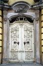 White Antique Baroque Door
