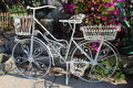 The white of an antique bike Royalty Free Stock Image