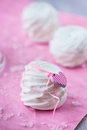 White apple marshmallows (zephyr) for valentine day Royalty Free Stock Photo