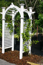 White Arbor Stock Photography