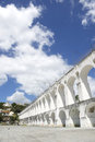 White arches at arcos da lapa rio de janeiro brazil landmark of in centro of Stock Photography