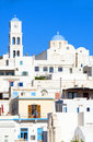 White architecture Adamas Milos Greek Island Stock Photos