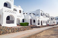 White architecture in hurghada of street egypt Stock Image