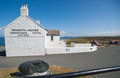 White architecture at lands end england archtiecture of the penwith house the historic temperance hotel in july tourism of travel Stock Photo