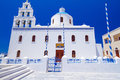 White architecture of oia town on santorini island greece Royalty Free Stock Photography