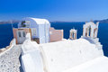 White architecture oia village santorini island greece Stock Photos