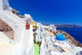 White architecture oia village santorini island greece Stock Image