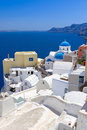 White architecture oia village santorini island greece Stock Images