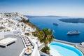 White architecture on santorini island greece beautiful view the sea Stock Photo