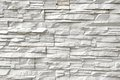 White artificial stone wall background and texture for text or image Royalty Free Stock Photography