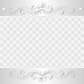 White background with ornaments vector illustration Royalty Free Stock Image