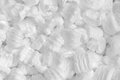 White background plastic foam Stock Images
