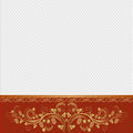 White background red with golden ornaments Royalty Free Stock Photography