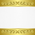 White background textured with golden ornaments Stock Images