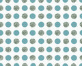 White background wth blue and silver dots Royalty Free Stock Photo
