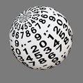 White ball with digits from zero to nine decimal point and dash Royalty Free Stock Image