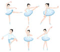 White ballet dancers illustration of the on a background Stock Photos